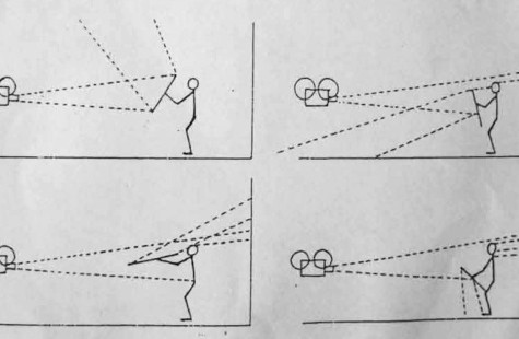 Guy Sherwin's orignal drawing for Man with Mirror (1976)