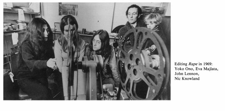yoko editing rape 1969